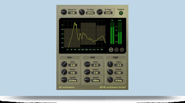 dB-M Multiband Limiter   audio mastering VST/AU plug-in